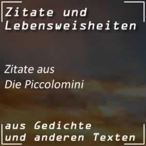 Zitate Die Piccolomini (Schiller)