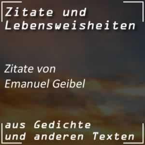 Zitate Emanuel Geibel