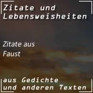 Zitate aus Faust von Goethe