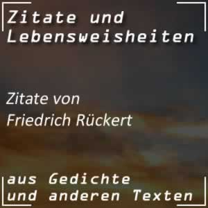 Zitate Friedrich Rückert
