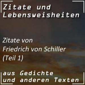 Zitate Friedrich Schiller