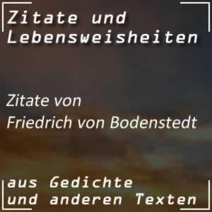 Zitate Friedrich von Bodenstedt Sprüche