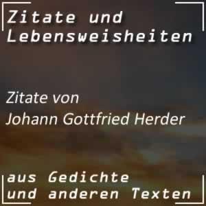 Zitate Johann Gottfried Herder