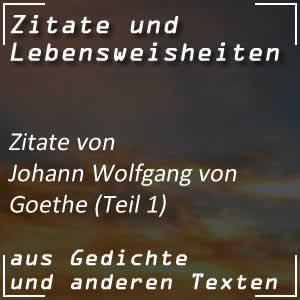 Zitate Johann Wolfgang von Goethe