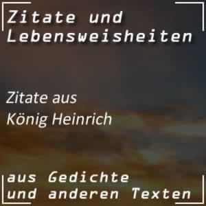 Zitate König Heinrich (Shakespeare)