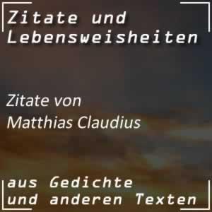 Zitate von Matthias Claudius