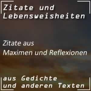 Zitate Maximen und Reflexionen (Goethe)