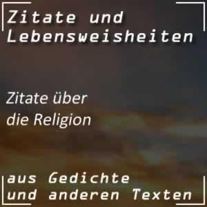 Zitate über die Religion