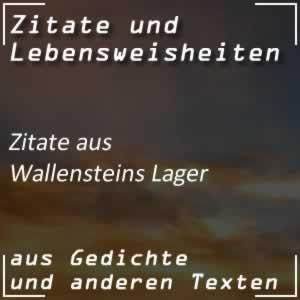 Zitate Wallensteins Lager (Schiller)