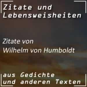 Zitate Wilhelm von Humboldt
