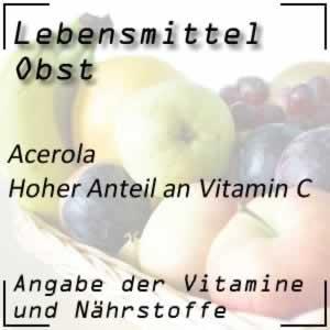 Obstsorte Acerola mit viel Vitamin C