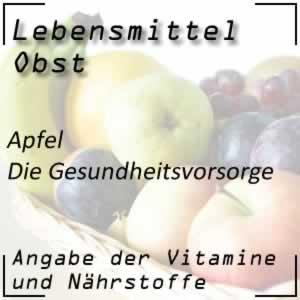 Apfel mit vielen Vitaminen