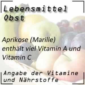 Aprikose oder Marille mit viel Vitamin A und C