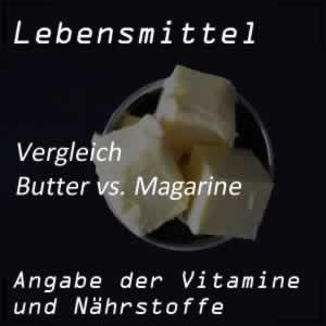 Butter oder Margarine: ein Vergleich