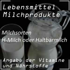 Lebensmittel H-Milch