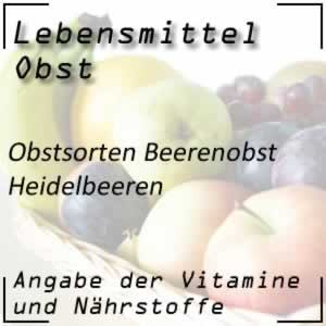 Obst Beerenobst Heidelbeeren