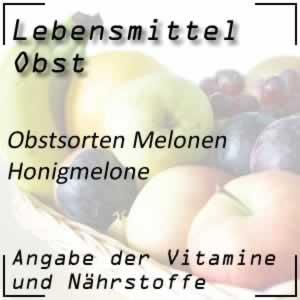 Obst Melonen Honigmelone