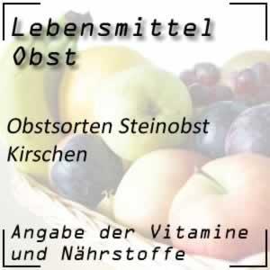 Obst Steinobst Kirschen