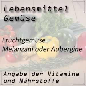 Lebensmittel Melanzani / Aubergine