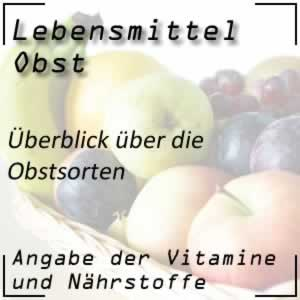 Obst / Obstsorten