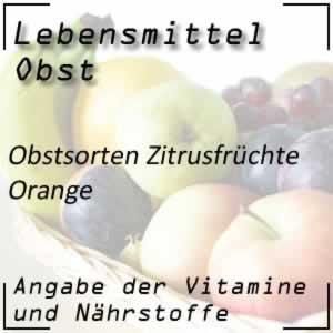 Lebensmittel Orange Vitamin C