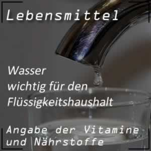 Lebensmittel Wasser