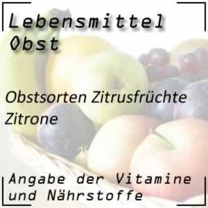 Obst Zitrusfrüchte Zitrone