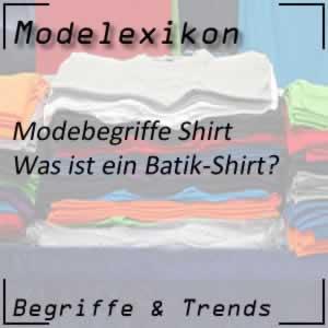 Batik-Shirt mit dem Batik-Muster