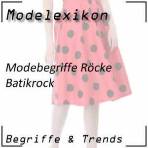 Batikrock: Rock mit buntem Batik-Muster