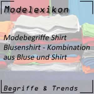Blusenshirt - Shirt mit Blusenelementen