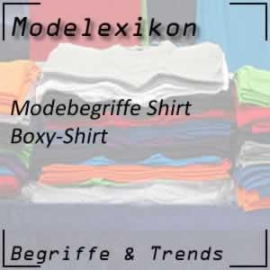 Boxy-Shirt oder Shirt mit Kastenform