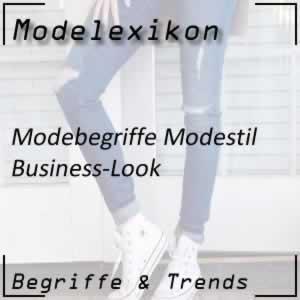 Modestil Business-Look oder Geschäftskleidung