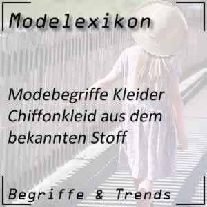 Mode Chiffonkleid