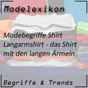 Langarmshirt: Shirt mit lange Ärmel