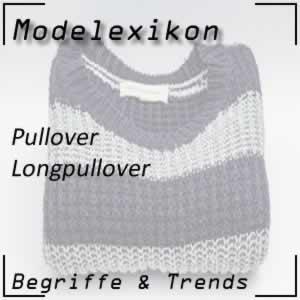 Longpullover: verlängerter Pullover