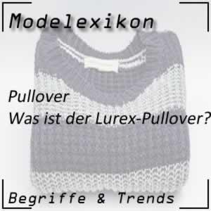 Lurex-Pullover: glänzender Pullover