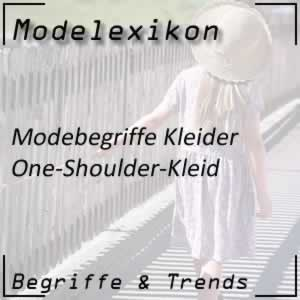 Mode One-Shoulder-Kleid