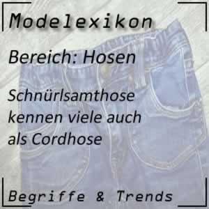 Mode Schnürlsamthose
