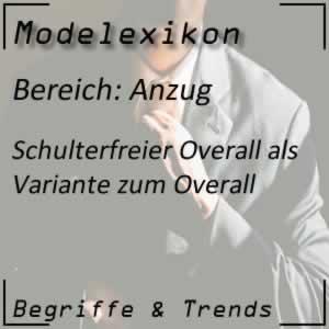 Schulterfreier Overall
