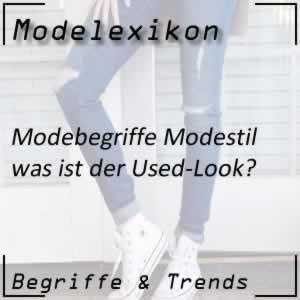 Used-Look: offenbar abgetragene Kleidung