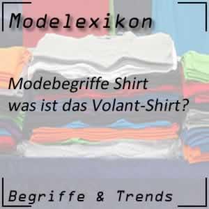 Volant-Shirt: Shirt mit Rüschen