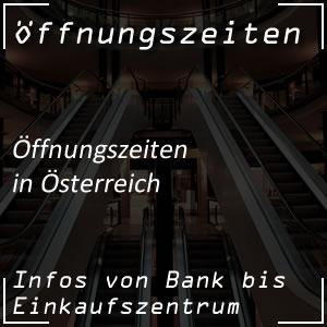 Öffnungszeiten in Österreich