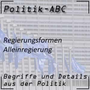 Alleinregierung einer Partei