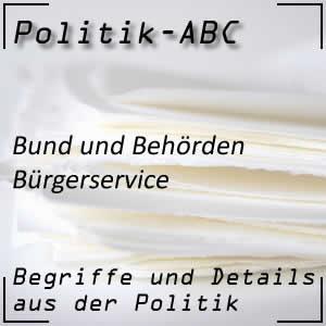Behörden als Bürgerservice des Staates