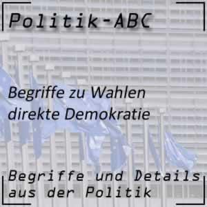 Direkte Demokratie bei Wahlen und Politik