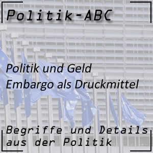 Embargo in der Politik