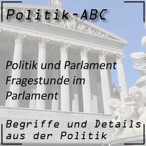 Fragestunde im Parlament