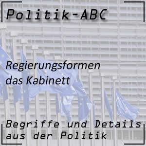 Kabinett oder Regierungskabinett
