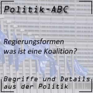 Koalition in der Regierung