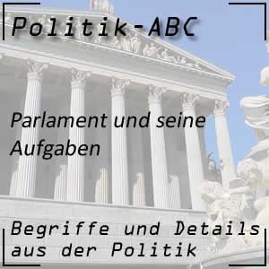 Politische Arbeit im Parlament